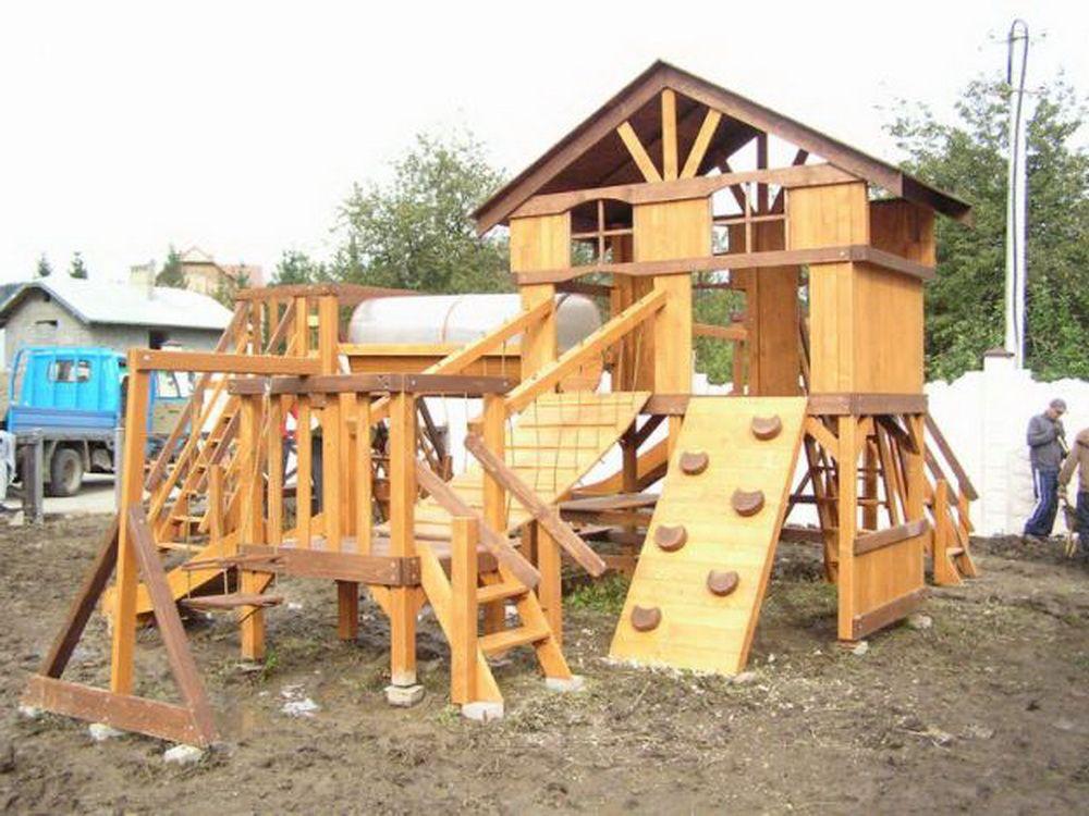 Детские игровые площадки из дерева своими руками фото